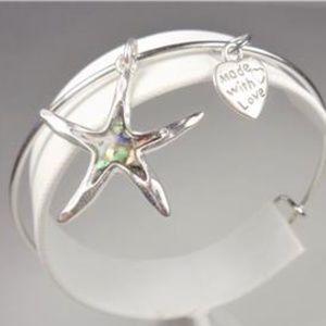 Jewelry - NAUTICAL ALBALONE STARFISH AND HEART BRACELET